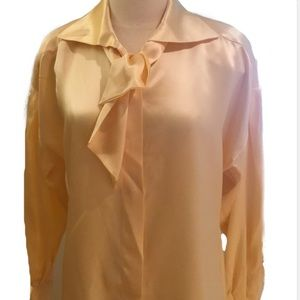 Tops - silk bow blouse 38 germany